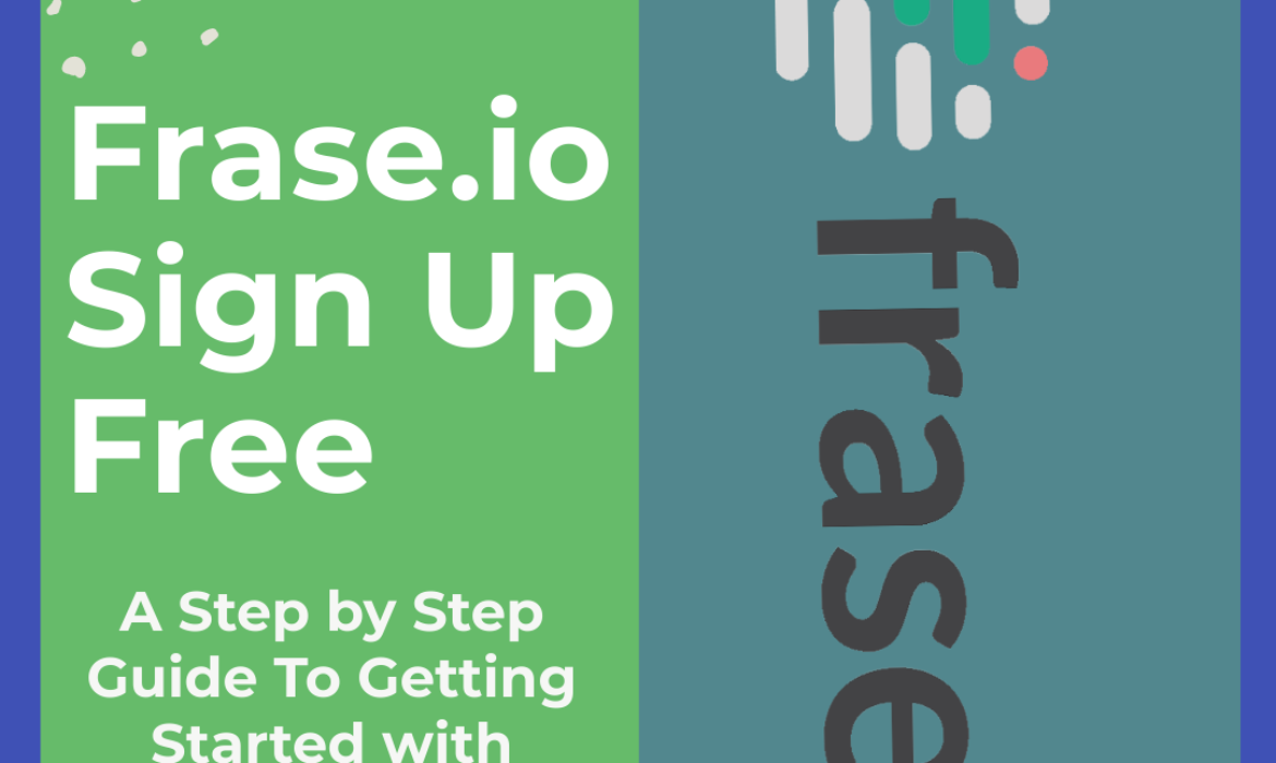 Step by step to signup for frase.io